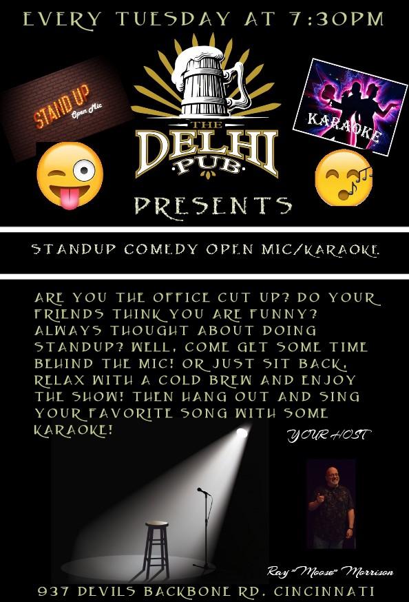 delhi pub new open mic flyer