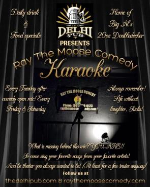 New Karaoke Flyer Delhi Pub
